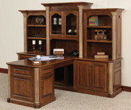 Amish Handcrafted Jefferson Partner Desk & 3-Piece Hutch
