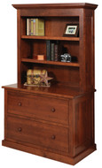 Amish Handcrafted Homestead Lateral File & Bookshelf