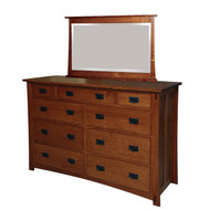 Amish Handcrafted Dutch County 9-Drawer Dresser
