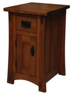 Amish Handcrafted Dutch County 1-Drawer 1-Door Nightstand