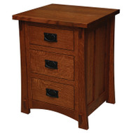 Amish Handcrafted Dutch County 3-Drawer Nightstand