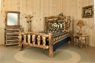 Rocky Mountain bedroom in solid Aspen