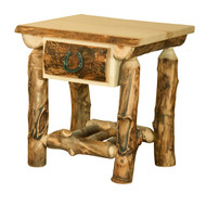 Amish Handcrafted Rocky Mountain Aspen 1 Drawer Nightstand