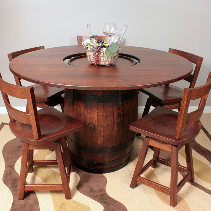 Magnificent Amish Handcrafted Barrel Dining Table Southern Outdoor Home Interior And Landscaping Ologienasavecom