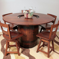 Amish Handcrafted Barrel Dining Table