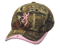 Browning Women's Gunner Camo Cap-Mossy Oak-MOINF/Pink Hat (308129202)