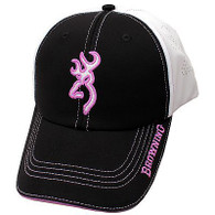 Browning Ladies Chelsie Cap White/Black/Purple-Womens Hat Buckmark (308244461)