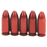 A-Zoom Snap Caps 9mm Luger Precision Metal Snap Cap-Pack of 5 (15116)