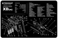 TekMat Springfield XDM Gun Cleaning Mat With Exploded Parts View (17XDM)