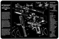 TekMat Smith & Wesson M&P Pistol Gun Cleaning Mat With Exploded Parts Schematic (17XSWMP)