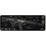 """TekMat AR-15 3D Cutaway 12"""" X 36"""" Gun Cleaning Mat (36AR15CA)"""