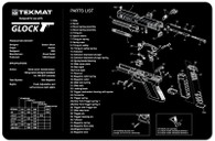 TekMat GLOCK Pistol Gun Cleaning Mat With Exploded Parts Schematic (17GLOCK)