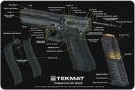 "TekMat Glock 3D Cutaway 11"" X 17"" Gun Cleaning Mat (17GLOCKCA)"