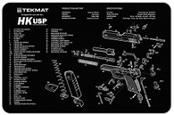 "TekMat H&K USP 11""x17"" Gun Cleaning Mat W/Exploded View (17HKUSP)"