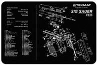 "TekMat SIG SAUER P220 11""x17"" Gun Cleaning Mat W/Exploded View (17-SIGP220)"