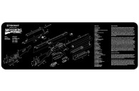 TekMat Mossberg Shotgun Cleaning-Bench Mat With Exploded Parts Schematic (36MOSS)