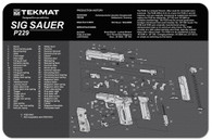 "TekMat SIG SAUER P229 11""x17"" Gun Cleaning Mat W/Exploded Parts View (17-SIGP229)"