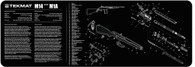 """TekMat Springfield M14/M1A 12""""x36"""" Rifle Cleaning Mat W/Exploded Parts Schematic (36-M14)"""