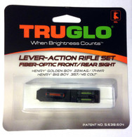 TruGlo Fiber Optic Rifle Sight Set For Henry Golden Boy/Big Boy Rifles TG114