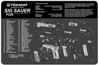 TekMat SIG P226 Pistol Gun Cleaning Mat With Exploded Parts Schematic (17SIG226)