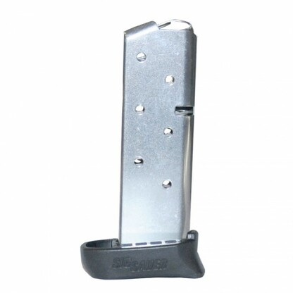 Sig Sauer P238 7 Round .380 ACP Magazine W/Finger Rest-Nickel Finish