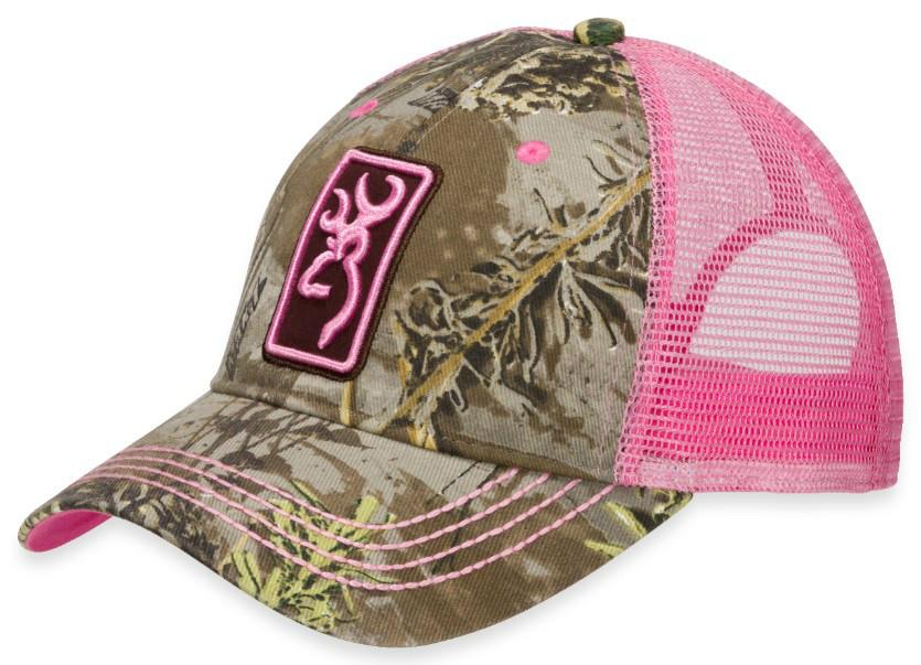 Browning Ladies Conway Cap Realtree Max-1 Pink Womens Hat (308175231 ... 02d2db3169da
