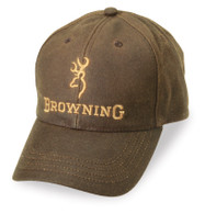 Browning Dura-Wax Cap-Men's Brown Hat Water Resistant (3084121)