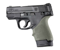 Hogue HANDALL S&W9 M&P Shield/Ruger LC9 Beavertail Grip Sleeve-OD Green (18401)