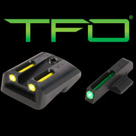 TruGlo 1911 Novak .270 Green Front/.450 Yellow Rear TFO Sight Set (TG131NT2Y)