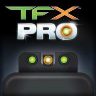 TruGlo TFX PRO Ruger American Pistol Tritium Fiber Optic Sight Set (TG13RS3PC)