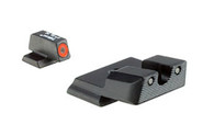 Trijicon S&W M&P SHIELD HD Tritium Night Sight Set-Orange Ring (SA39-C-600722)