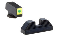 Ameriglo Glock  42/43 Spaulding Set W/Lumi-Green Square Outline Front (GL-646)