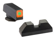 Ameriglo Glock Spaulding Sight Set-Square Orange Outline Front/Black Rear (GL-644)