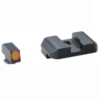 Ameriglo Glock Hackathorn Tritium Front Sight W/Orange Ring/Serrated Rear (GL-433)