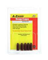 A-Zoom Snap Caps-.32 AUTO Precision Metal Snap Caps-Pack of 5 (15153)