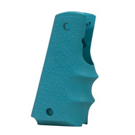 Hogue 1911 Government Rubber Grip With Finger Grooves-Aqua (45004)