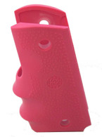 Hogue 1911 Officer's Rubber Grip With Finger Grooves-Pink (43007)