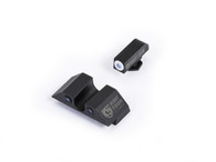 Night Fision Glock Low Night Sight Set W/White Front Ring (GLK-001-007-WZX)