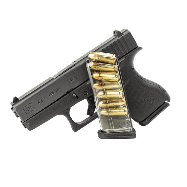 Elite Tactical Systems (ETS) Glock 43 Magazine 7 Round 9mm Mag-Clear  (GLK-43)