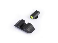 Night Fision Glock 42/43 Night Sight Set W/Yellow Front Ring (GLK-003-007-YZX)