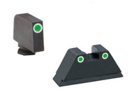AmeriGlo Glock Suppressor Tritium Night Sight Set W/Lumigreen Outline (GL-329)