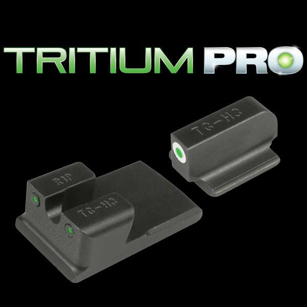 TruGlo Tritium Pro Ruger SR9/ 40/ 45 Night Sight Set W/White Front Ring  (TG231R1W)