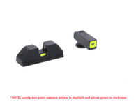 AmeriGlo Glock Low Cap Sight Set-Tritium Front W/Square Lumigreen Outline (GL-614)