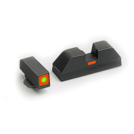AmeriGlo Glock Low Cap Sight Set-Tritium Front W/Square Orange Outline (GL-616)