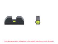 AmeriGlo Glock 42/43 Cap Set-Tritium Front W/Square Lumigreen Outline (GL-605)