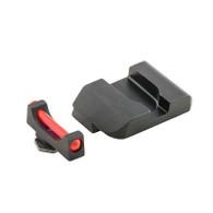 AmeriGlo Glock Low Red Fiber Optic Front Sight W/Black Steel Pro Rear (GFB-103)