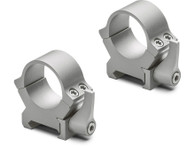 """Leupold QRW2 1"""" Quick Release Steel Scope Rings-Low Height-Silver (174066)"""