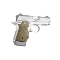 Hogue Rubber Grip W/Finger Grooves For Kimber Micro 9-Ambi Safety-FDE (39083)