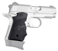Hogue Rubber Grip W/Finger Grooves For Kimber Micro 9-Ambi Safety-Black (39080)