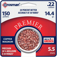 Crosman Copper Magnum .22 Caliber Pellets-Pack of 150 (CPD22)